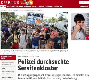 Schlepperverdacht: Polizei durchsuchte Servitenkloster