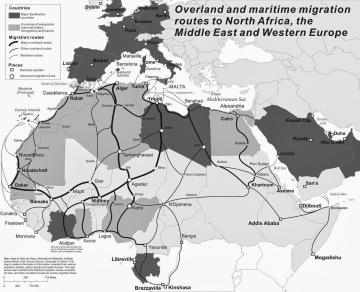 trans-Saharan migration routes